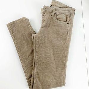 Kut From The Kloth Tan Diana Skinny Corduroy Jeans